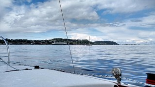 Drifting along the City of Port Townsend shore.