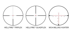 SIG Sauer Whiskey5 3-15x52 reticles
