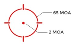 red 65-MOA circle-dot