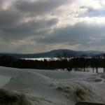The Stockbridge Bowl seen from Kripalu in winter