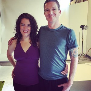 Me and Rob at the Everyday Yoga photo shoot