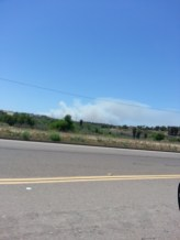 Carlsbad fire 10 miles to the southwest