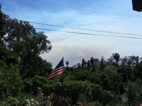 The San Marcos fire - 10 miles to the southeast