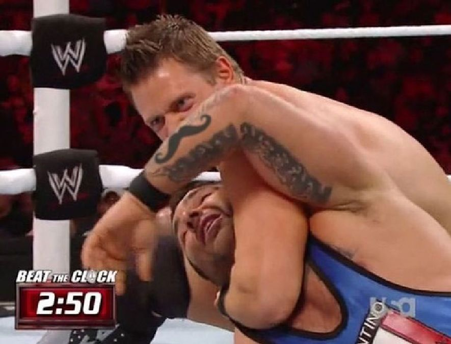 wwf wrestling mustache perfect timing