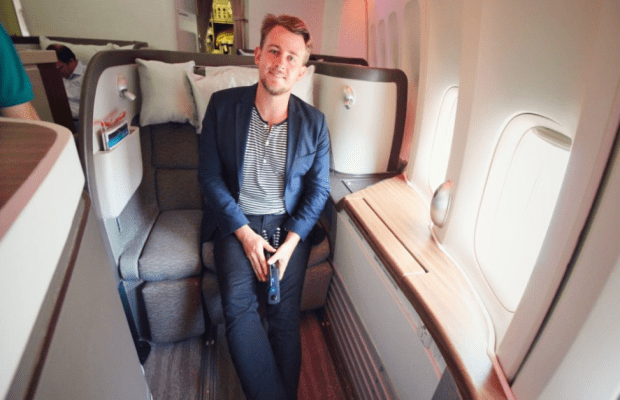 Business Class Seat Upgrade Challenge: Gilbert Ott Stopped at the airport