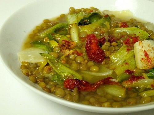 lentils + escarole