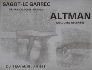 Exposition Harold Altman - Juin 1968