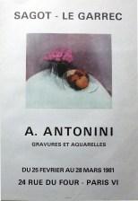 Exposition Annapia Antonini - Mars 1981