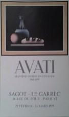 Exposition Mario Avati - Mars 1979