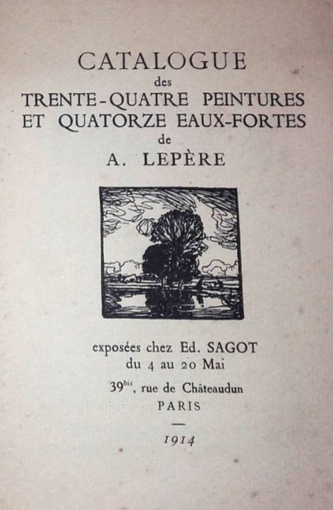 Exposition Auguste Lepère - Mai 1914