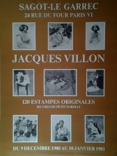 Exposition Jacques Villon - Décembre 1980