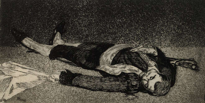 Édouard Manet - Le torero mort - Eau-forte et aquatinte