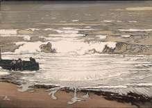 Auguste Lepère - Les lames déferlent, marée de septembre - 1901 - Bois gravé