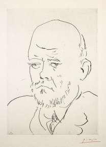 Pablo Picasso - Portrait de Vollard – Suite Vollard planche 100