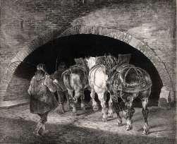Théodore Géricault - Entrance to the Adelphi Wharf – 1821 - Lithographie