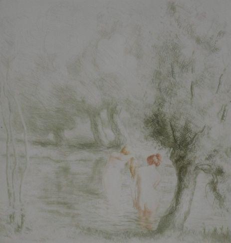 Alfredo Müller - Baigneuses sous les saules - 1901