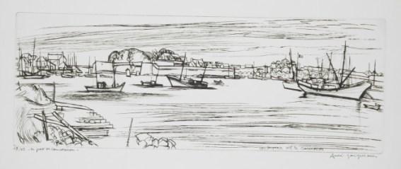 André Jacquemin - Le port de Concarneau