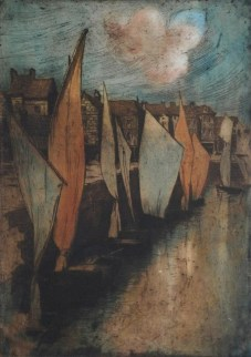 Alfredo Müller - Le vieux port du Pollet à Dieppe - 1898-1903