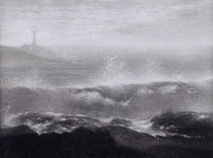 Mikio Watanabé. Lighthouse. 2013. Manière noire.