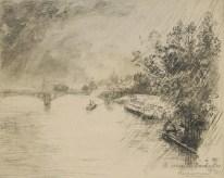 Félix Bracquemond - Vue du pont des Saints Pères