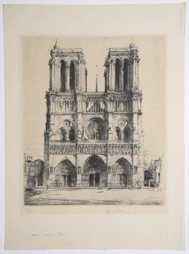 Henry Deville - Notre Dame de Paris - Recto
