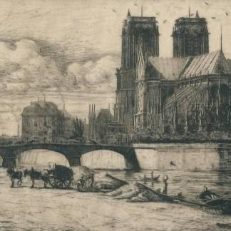 Charles Meryon - L'abside de Notre Dame de Paris
