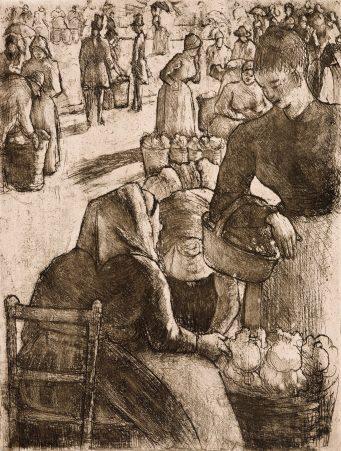 Camille Pissarro - Marché aux légumes, à Pontoise