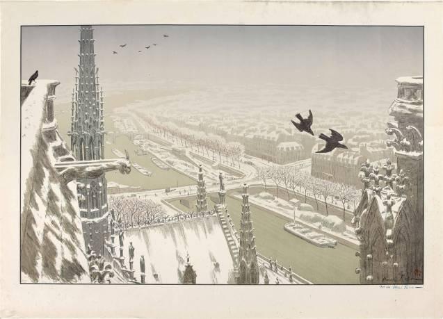 Henri Rivière - Du haut des tours Notre Dame - Édition de tête - Recto
