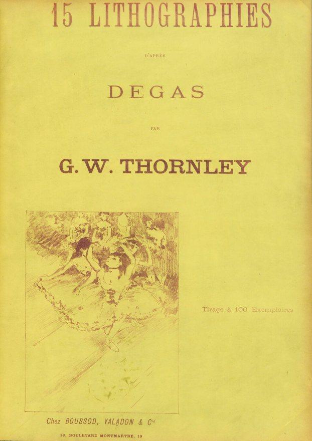 Georges William Thornley - Quinze lithographies d'après Degas - Couverture