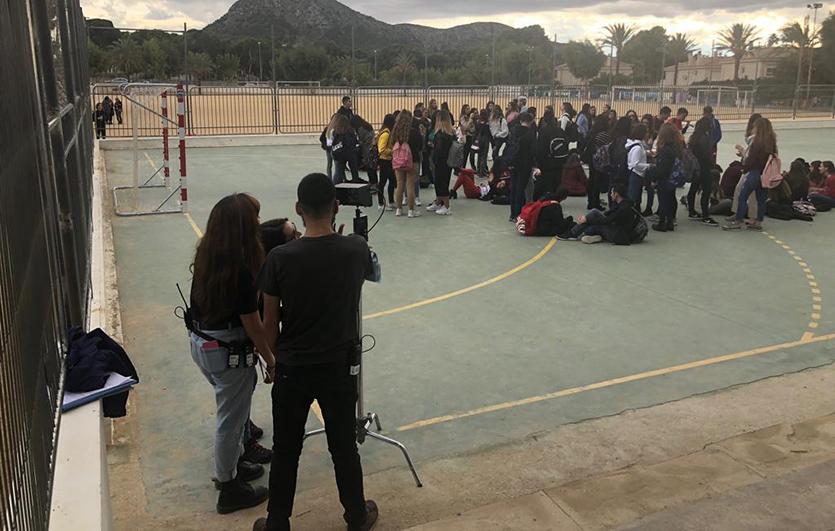 Rodaje-cortometraje-Ráfagas-de-Vida-Salvaje-Colegio-Sagrada-Familia-de-Elda