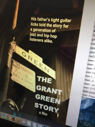 The poster for the jazz doc. Looking forward to sharing it.