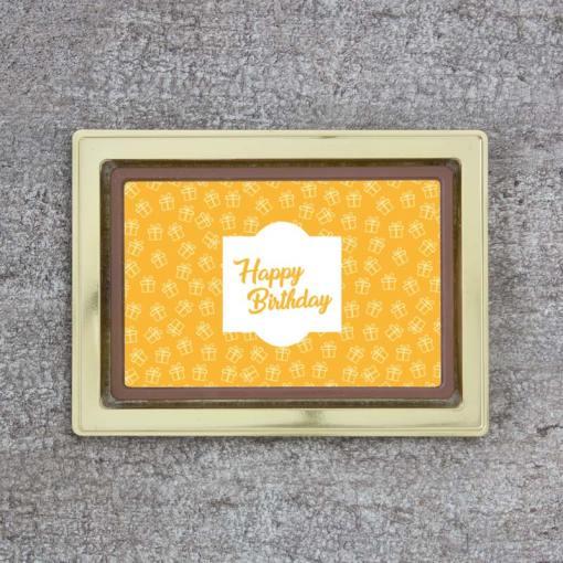 Schoko-Marzipan-Tafel - Happy Birthday