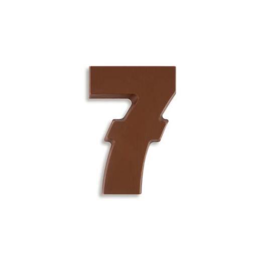 Große Schokozahl 7