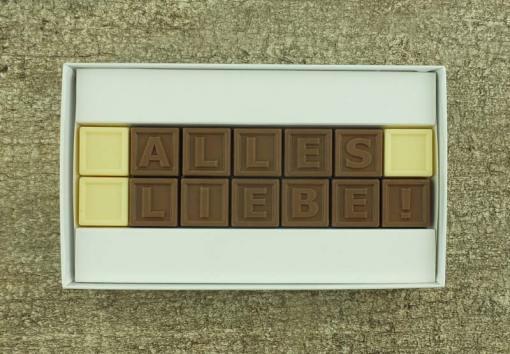 14er-Schoko-SMS - Alles Liebe!