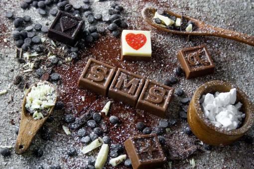 21er Schoko-SMS - Eine Portion Liebe