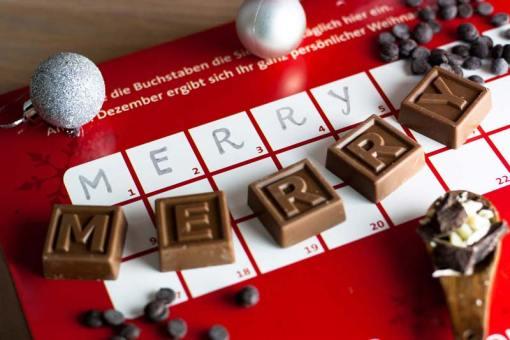 Adventskalender Schoko-SMS – Mit deinem Text!