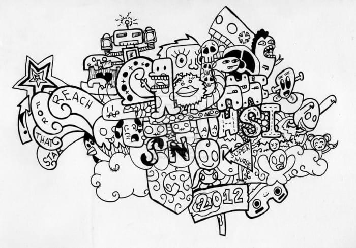 Gambar Doodle Warna