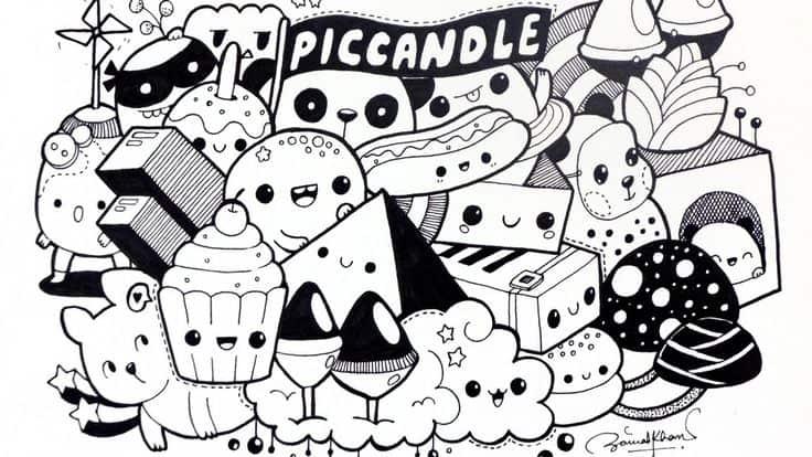 7 Cara Membuat Doodle Art Name Simple 50 Contoh Gambar