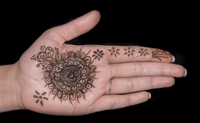 Contoh Lukisan Henna Di Tangan Simple