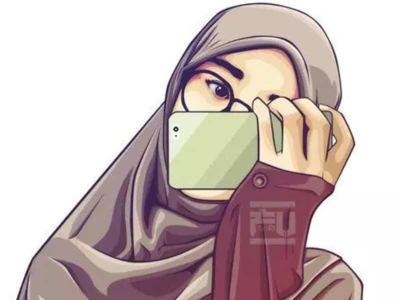 Animasi Gambar Kartun Muslimah Cantik Dan Imut Sigila Mencurah Pedih