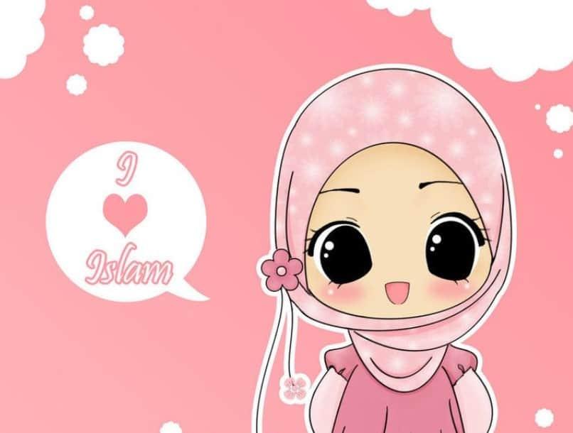 ✓ Terbaik Gambar Kartun Anak Kecil Muslimah Cantik