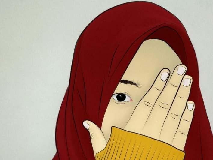 30 Gambar Kartun Muslimah Bercadar Syari Cantik Lucu Terbaru Masasih Id
