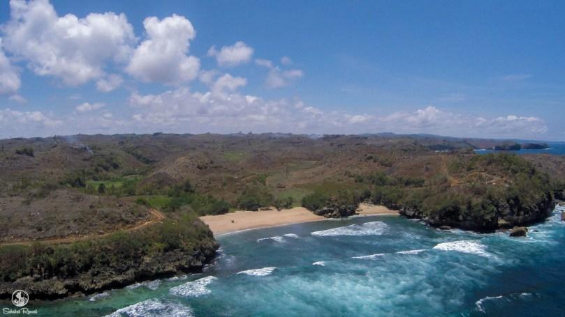 Foto Udara Pantai Peh Pulo