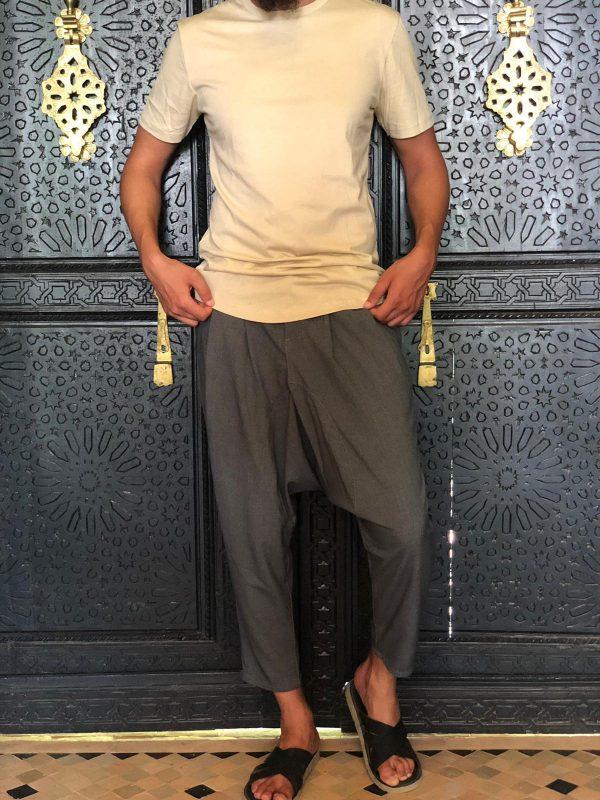 sarouel sahabi gris chiné style