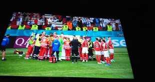 عـــــاجل.. إصابة لاعب بسكتة قلبية مُفاجئة في مبارات كأس أوروبا لكرة القدم +صور