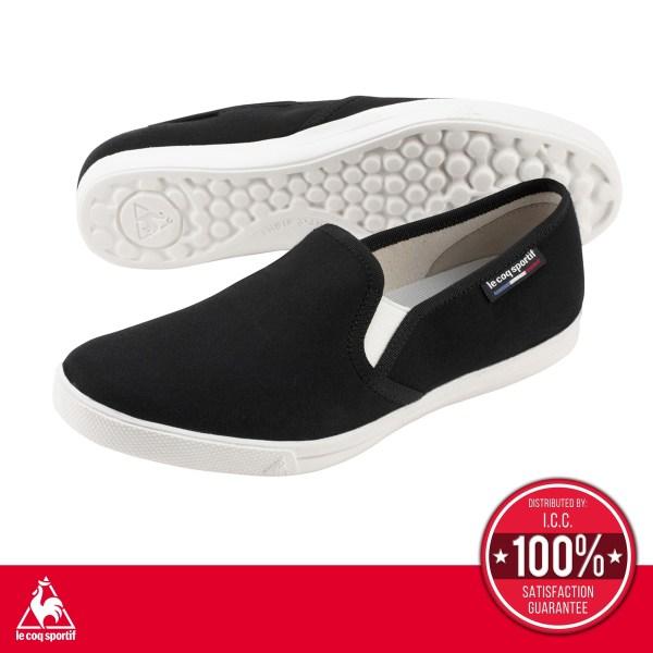 le coq sportif le coq sportif รองเท้าผู้หญิง รุ่น Teluna Smart Light SP สีดำ รองเท้าสลิปออนสีดำ รองเท้าลำลอง