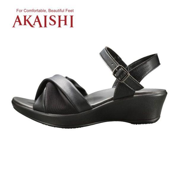 Akaishi AKAISHI COMFORT BLACK BELT รองเท้าสุขภาพ S06