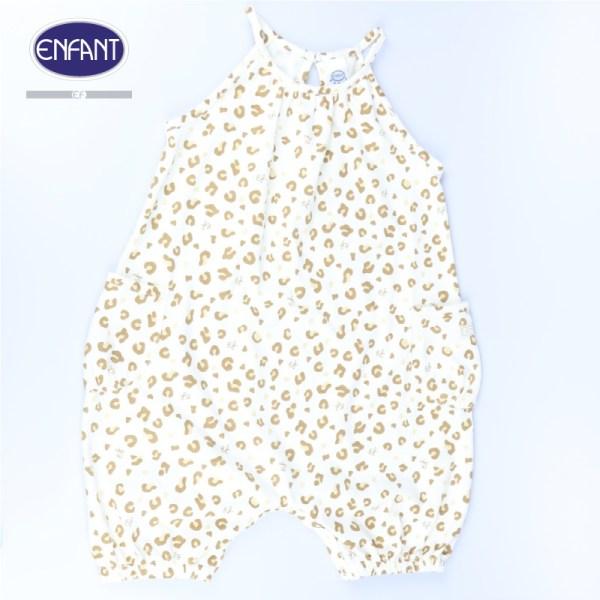 Enfant Enfantชุดหมีสายเดี่ยว กรีนลายเสือแสนซน