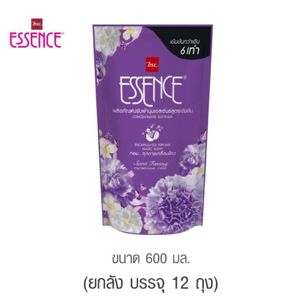 Essence Essence ผลิตภัณฑ์ปรับผ้านุ่มเอสเซ้นซ์สูตรเข้มข้น 6 เท่า กลิ่น SECRET FANTASY 600 มล. (1 ลัง บรรจุ 12 ชิ้น )
