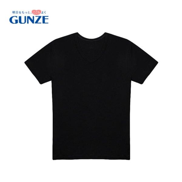 Gunze GUNZE-เสื้อแขนสั้นคอวีผู้ชาย Gunze รุ่น GS1631